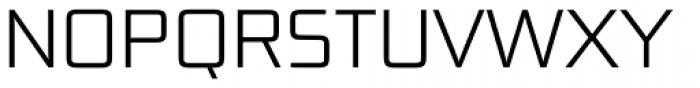 Bunken Tech Sans Pro Light Font UPPERCASE