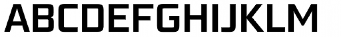Bunken Tech Sans Pro SemiBold Font UPPERCASE