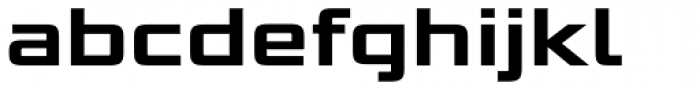Bunken Tech Sans Pro Wide Bold Font LOWERCASE