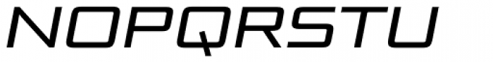Bunken Tech Sans Pro Wide Med It Font UPPERCASE