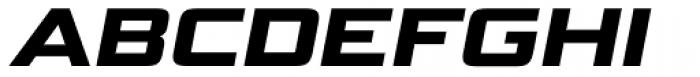 Bunken Tech Sans Pro Wide Ul Bd It Font UPPERCASE