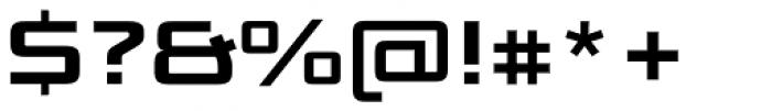 Bunken Tech Sans SC Wide Bold Font OTHER CHARS
