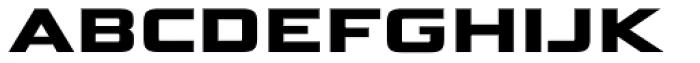 Bunken Tech Sans SC Wide Ex Bd Font LOWERCASE