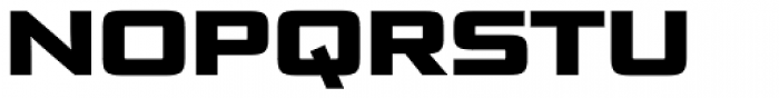 Bunken Tech Sans SC Wide Heavy Font UPPERCASE