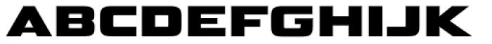 Bunken Tech Sans SC Wide Heavy Font LOWERCASE