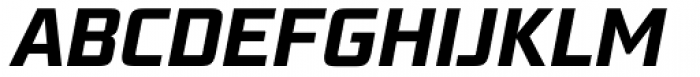 Bunken Tech Sans Std Bold Italic Font UPPERCASE