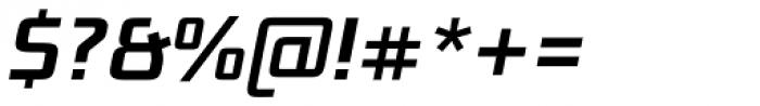 Bunken Tech Sans Std Semibold Italic Font OTHER CHARS
