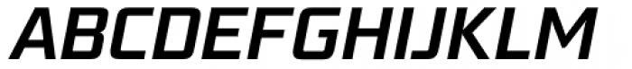 Bunken Tech Sans Std Semibold Italic Font UPPERCASE