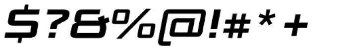 Bunken Tech Sans Std Wide Bold It Font OTHER CHARS