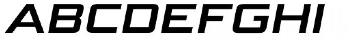 Bunken Tech Sans Std Wide Bold It Font UPPERCASE