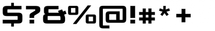 Bunken Tech Sans Std Wide Ex Bd Font OTHER CHARS