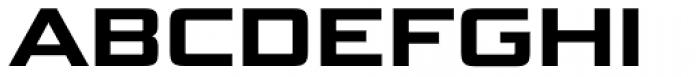 Bunken Tech Sans Std Wide Ex Bd Font UPPERCASE