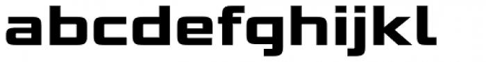 Bunken Tech Sans Std Wide Ex Bd Font LOWERCASE