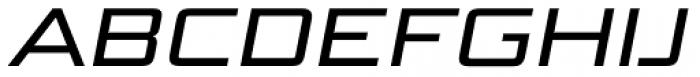 Bunken Tech Sans Std Wide Med It Font UPPERCASE