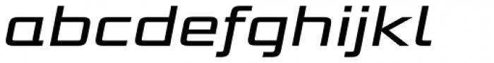 Bunken Tech Sans Std Wide Med It Font LOWERCASE