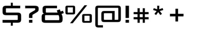 Bunken Tech Sans Std Wide Se Bd Font OTHER CHARS