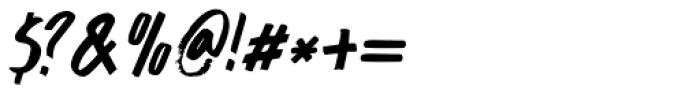 Buntaro Italic Font OTHER CHARS