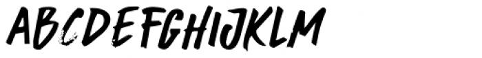 Buntaro Italic Font UPPERCASE