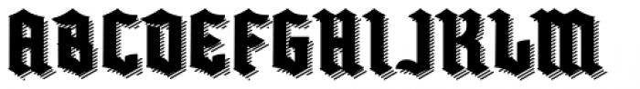 Buntisland Shadow Font UPPERCASE