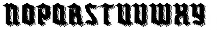 Buntisland Shadow Font LOWERCASE