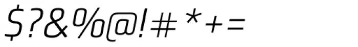 Bunuelo Clean Pro Semi Light Italic Font OTHER CHARS