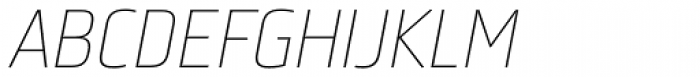 Bunuelo Clean Pro Thin Italic Font UPPERCASE