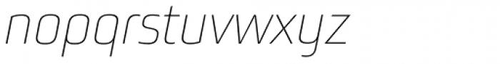 Bunuelo Clean Pro Thin Italic Font LOWERCASE