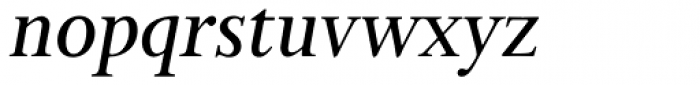 Bunyan Pro Medium Italic Font LOWERCASE