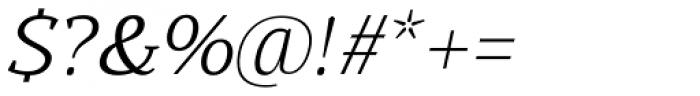 Buozzi Light Italic Font OTHER CHARS