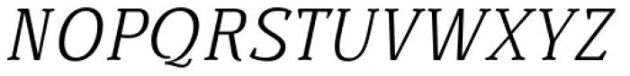 Buozzi Light Italic Font UPPERCASE