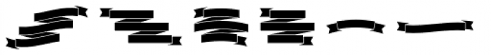 Burford Extras Set B Font UPPERCASE