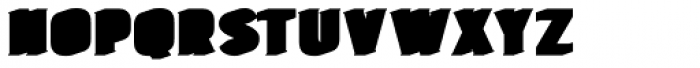 Burford Extrude A Shadow Font UPPERCASE