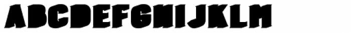 Burford Extrude A Shadow Font LOWERCASE