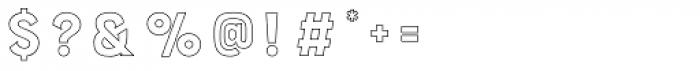 Burford Outline Font OTHER CHARS