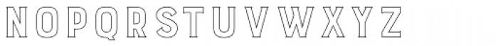 Burford Outline Font UPPERCASE