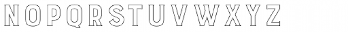 Burford Outline Font LOWERCASE