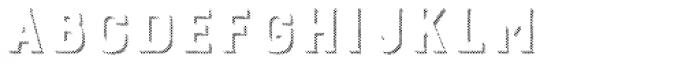 Burford Rustic Shadow Two B Font LOWERCASE