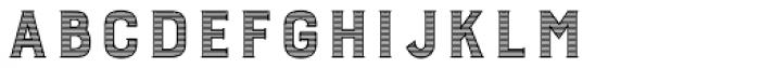 Burford Stripes B Font LOWERCASE