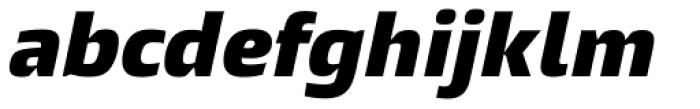 Burlingame Black Italic Font LOWERCASE