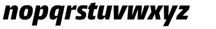 Burlingame Cond Black Italic Font LOWERCASE