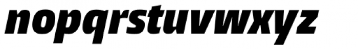 Burlingame Cond ExtraBlack Italic Font LOWERCASE