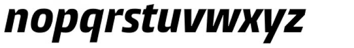 Burlingame Cond ExtraBold Italic Font LOWERCASE