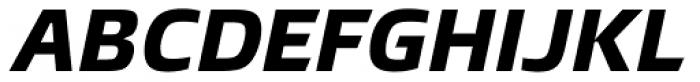 Burlingame ExtraBold Italic Font UPPERCASE