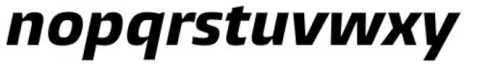 Burlingame ExtraBold Italic Font LOWERCASE