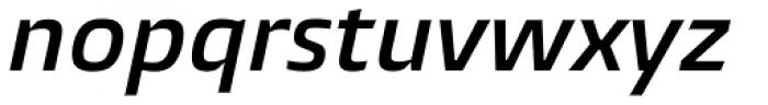 Burlingame SemiBold Italic Font LOWERCASE