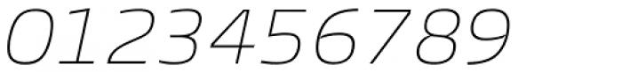 Burlingame Thin Italic Font OTHER CHARS