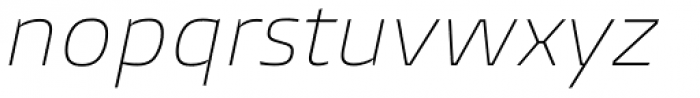 Burlingame Thin Italic Font LOWERCASE