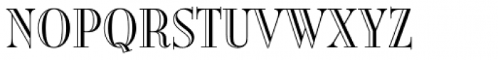Burlington Std Font UPPERCASE