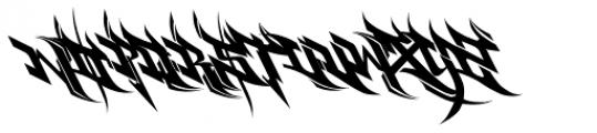Burner Font UPPERCASE