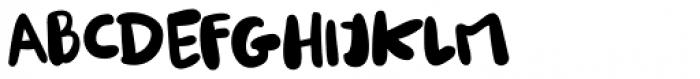 Burobu Regular Font UPPERCASE